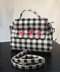 Lulu Hun Gingham cherry bag【LHSS19006】