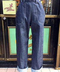 Ladies Denim Ranch Pants【SVY-LPT012S】