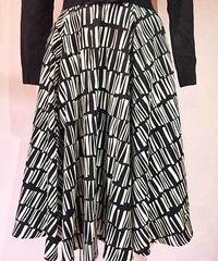Abstract Patern Circular Skirt【SVY-SK049】