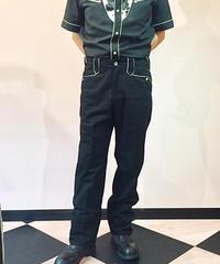 Western P/P Chino Cloth Pants (BLK)【SVY-PT072】