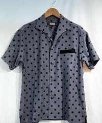 Gray Polkadot S/S Italian Shirts【SVY-SH302】