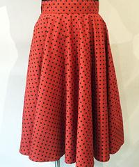 Small Dot Long Circular Skirt【SVY-SK058】