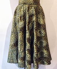Fakefur Leopard Circular Skirt【SVY-SK057】
