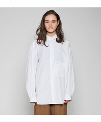 VOAAOV / SOFT SEAMER BIG SHIRT -STRIP-