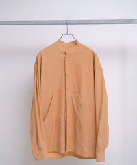 HOUSE OF THE VERY ISLAND'S / FUTURE GARDEN Buttoned Shirt with Big Pocket-mud orange