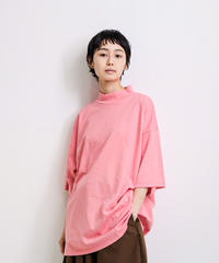 my beautiful landlet / BESIC CUT AND SEW MOCKNECK TEE / Pink