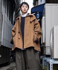 VOAAOV / VINTAGE WASH CHINO CLOTH SHORT COAT -BEIGE-