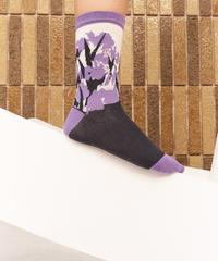 HENRIK VIBSKOV / Flower Fire Socks Femme -Purple Flowers-