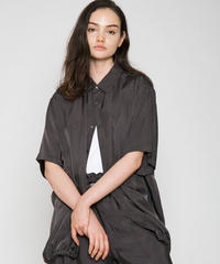 VOAAOV / CUPRO DYED TWILL H/S SHIRTS -CHARCOAL-