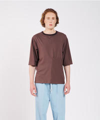HOUSE OF THE VERY ISLAND'S / ELEKTRO GOENNER (DROP SHOULDER T-SHIRT WITH FLONT FOLD)-BROWN-