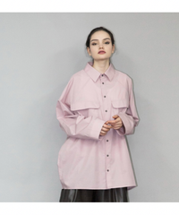 my beautiful landlet / LOOSE DRESS BIG SHIRT -PINK-