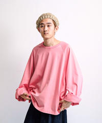 my beautiful landlet / BESIC CUT AND SEW RINGER L/S TEE -PINK-