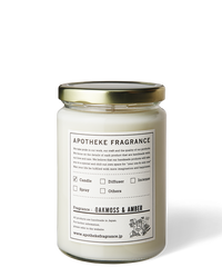 APOTHEKE FRAGRANCE / GLASS JAR CANDLE -OAKMOSS & AMBER