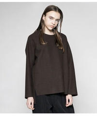 VOAAOV / compressed wool jersey switching sweat
