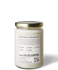 APOTHEKE FRAGRANCE / GLASS JAR CANDLE -EARL GREY & GRAPEFRUIT