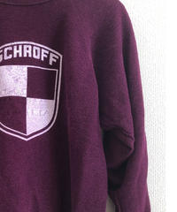 VINTAGE RAGLAN SWEAT SHIRTS  Plum
