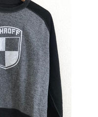 VINTAGE RAGLAN SWEAT SHIRTS    Bk x H/Gray