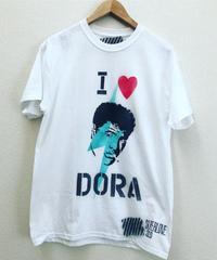 """DORA """"da CAT"""" stenciled Tee shirts"""