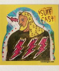 Surf Fast Jesus Vinyl Sticker             by Russ Dungan
