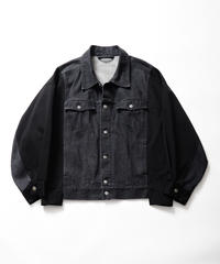 【2021.2.11(thr)21:00-PRE‐ORDER】COMBINATION DENIM JACKET(BLACK)