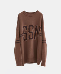 【10.30(fri)21:00-PRE ORDER】Double  Jacquard IVY knit(Brown)