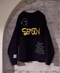 "【2021.3.6(sat)21:00-PRE-ORDER】HAZUKI×SEASON  COLAB ""ART"" SWEAT(Black)"