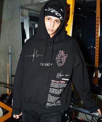 SEASON  BPM-graphic parka(Black)