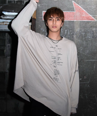 Over size drop long-tee(Beige)