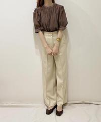 《予約/7月中旬発送》center press wide pants