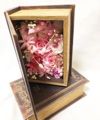 【恋する物語のアレンジBOOKBOX/プリザーブドフラワー/フラワーブック サプライズプレゼント】