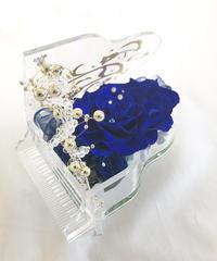 【プリザーブドフラワー/グランドピアノシリーズ】ピアノだけが知っている青い薔薇が心に秘めた静かで深いメッセージ