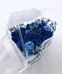 【プリザーブドフラワー/グランドピアノシリーズ】青い薔薇の祝福と奇跡