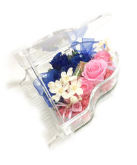 【プリザーブドフラワー/グランドピアノシリーズ】ロミオとジュリエットの永遠の恋をピンクと青の薔薇に託して…