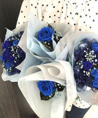 高部様オーダー専用ページ 青い薔薇花束と一輪花束