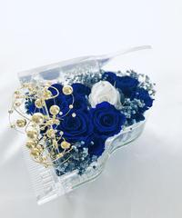 【プリザーブドフラワー/グランドピアノシリーズ】青い薔薇の神秘的な祝福【リボンラッピング付き送料無料】
