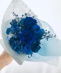 【プリザーブドフラワー/青い薔薇の花束・ラッピング付き】