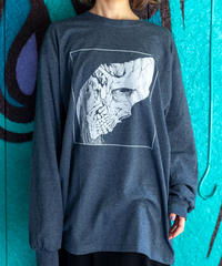 SKULL HEAD #1 Long-sleeve shirt ( Dark Heather)