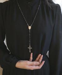 Italian black beads rosary