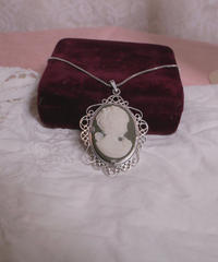 antique stone cameo necklace