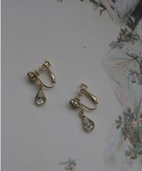 AVON 80s drop stone earring