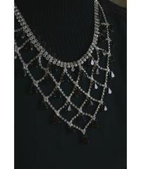 black bijou crystal necklace