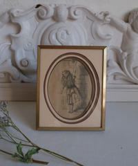 "VTG art frame ""alice in wonderland"""