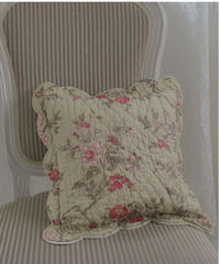 VTG french rose quilt cushion