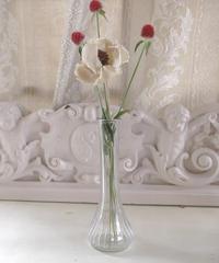 VTG clear glass flower vase