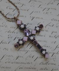 "french vintage""une ligne""  swarovski pendant purple pink"