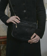 "VTG ""Salvatore Ferragamo""  black suede bag"