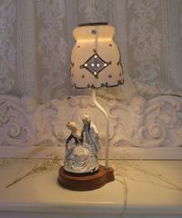 VTG porcelain shade lamp