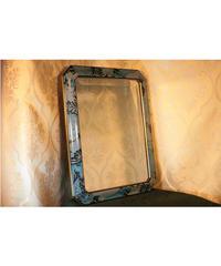 vintage blue mirror