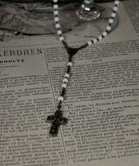white beads antique rosary