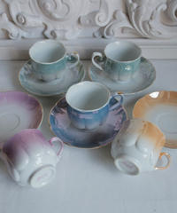 VTG  pastel color cup&s